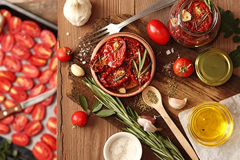Tomatoes preserved